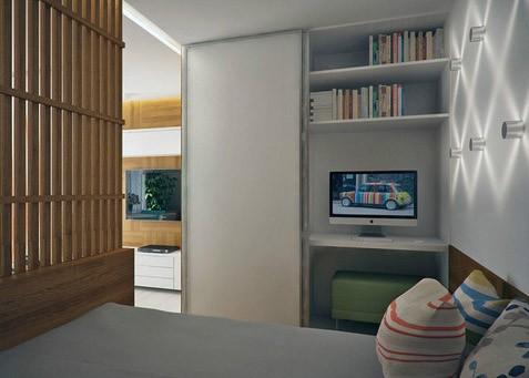 Квартира-студия с интересной спальней