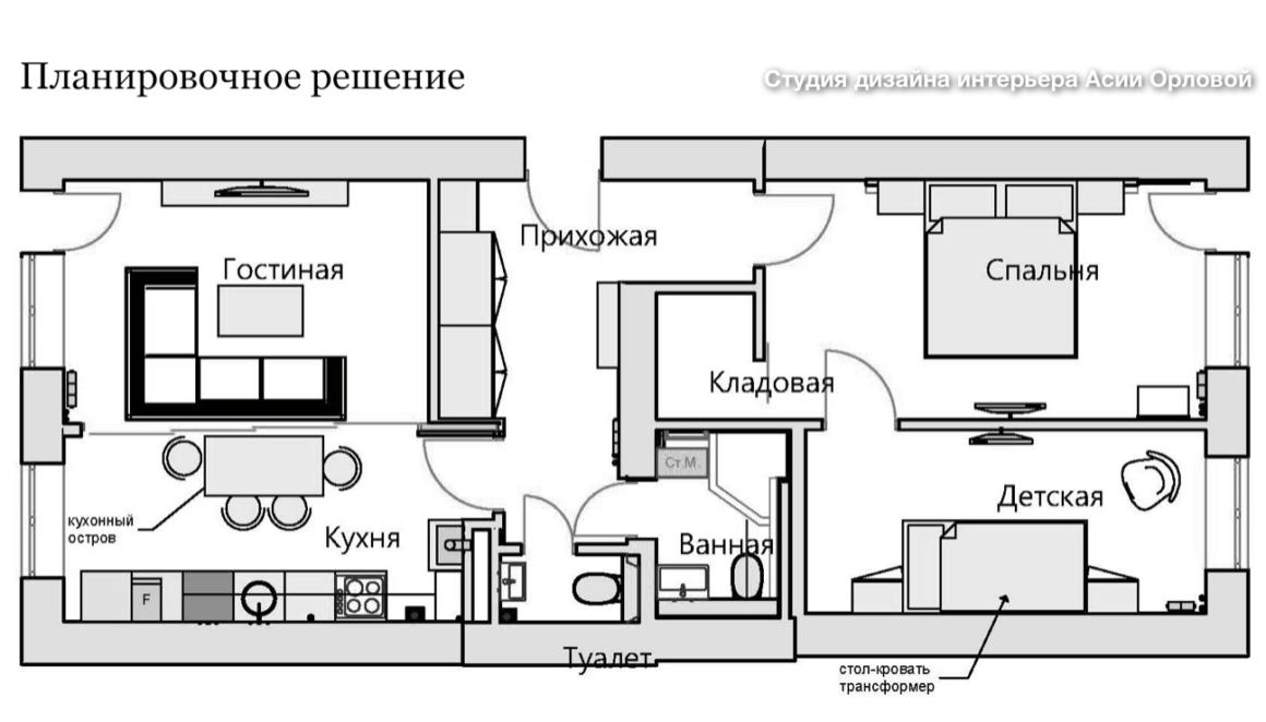 Минималистичная кухня в старом доме Калининграда