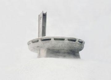 Снежная советская архитектура